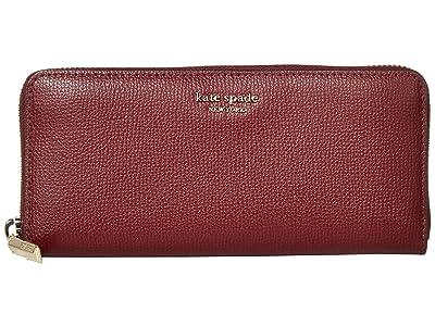 Kate Spade New York Margaux Slim Continental Wallet (Cherrywood) Checkbook Wallet