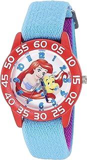ساعة ديزني ارييل كوارتز بلاستيك و نايلون للبنات - اللون: ازرق موديل W002907