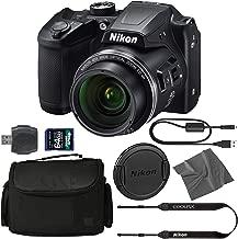 Nikon COOLPIX B500 Digital Camera: (Black) (26506) + 64GB AOM Pro Kit: International Version (1 Year AOM Warranty)