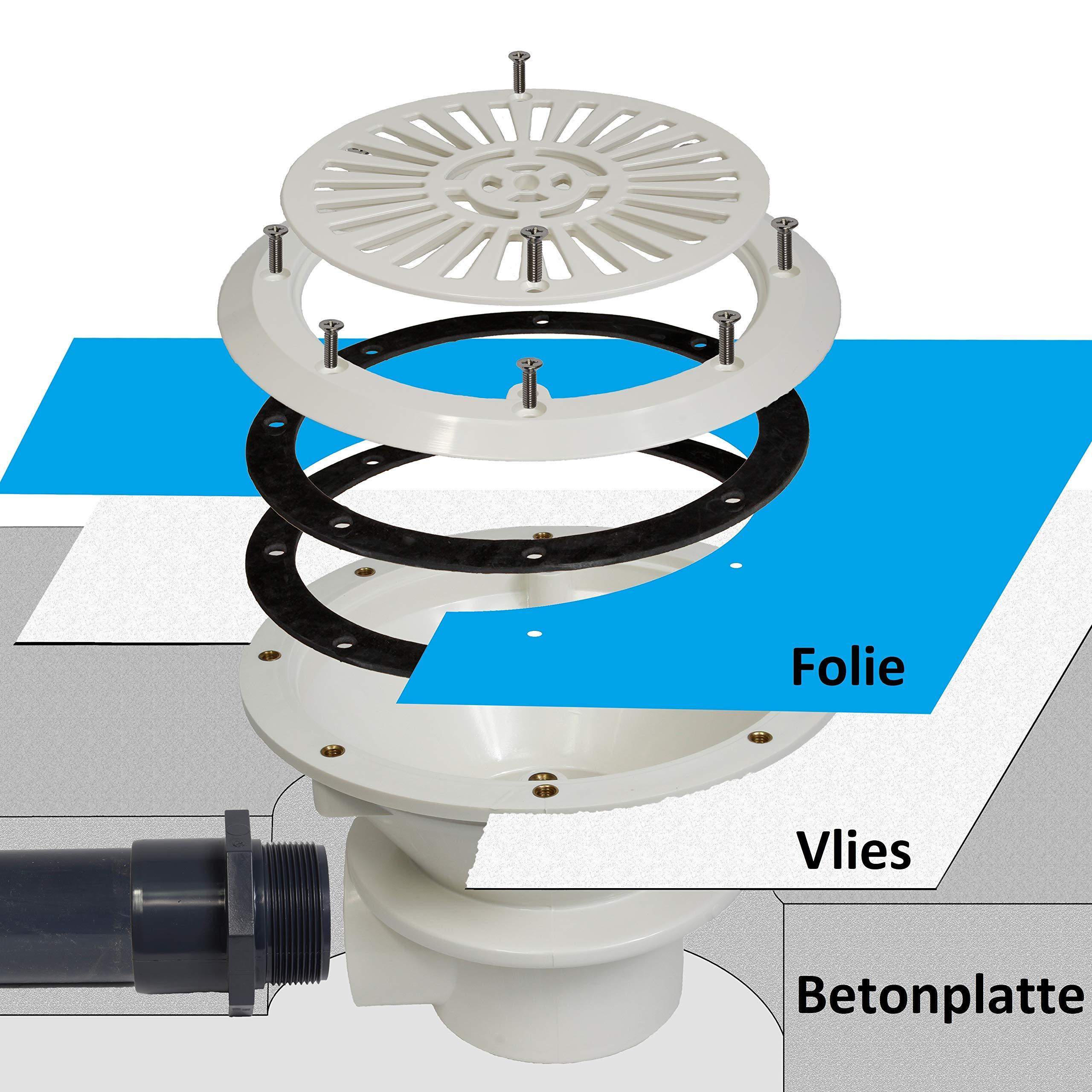 ABS desagüe de suelo Premium Set Diámetro 50 mm/piscinas//piscina ...