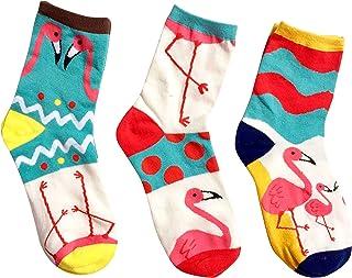 MarylinDreams, Calcetines para mujer (3 pares), diseño de flamencos, multicolor