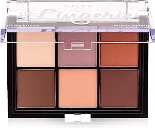 NYX Professional Makeup Lid Lingerie oogschaduwpalet, geperste pigmenten, 6 tinten met romige matte textuur