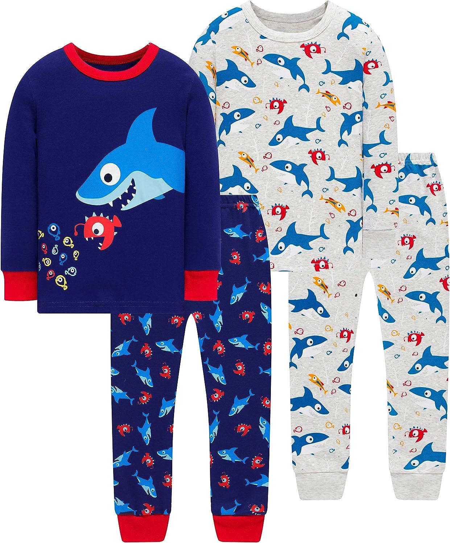 Pajamas For Boys Kids Rocket Christmas Sleepwear Baby Girls Clothes 4 Pieces Pants Set