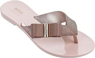 melissa Women's Girl + Jason Wu Flip Flop Sandals Rose Gold 8