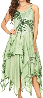 Annabella Corset Bodice Handkerchief Hem Dress