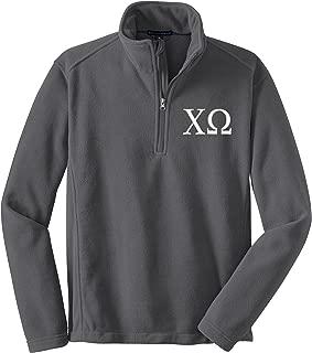 Sorority Letters Shop Chi Omega Quarter Zip Fleece Pullover