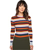 HOUSE OF HOLLAND - Stripe Merino and Lurex Jumper