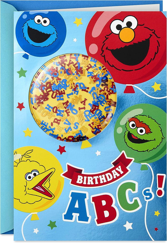 Amazon Com Hallmark Sesame Street Birthday Card For Kids Birthday Abcs Everything Else