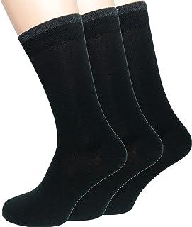 3 Pares de Nuestros Mejores Calcetines de Ejecutivo Lana de Merino de Ascona súper Suave, Calcetines de Caballero