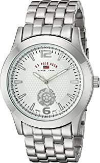 U.S. Polo Assn. Classic Men's US8440 Silver Dial Silver-Tone Bracelet Watch