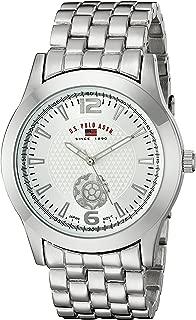 U.S. Polo Assn. Classic Men's US8440 Silver Dial Silver-Tone Bracelet Watch