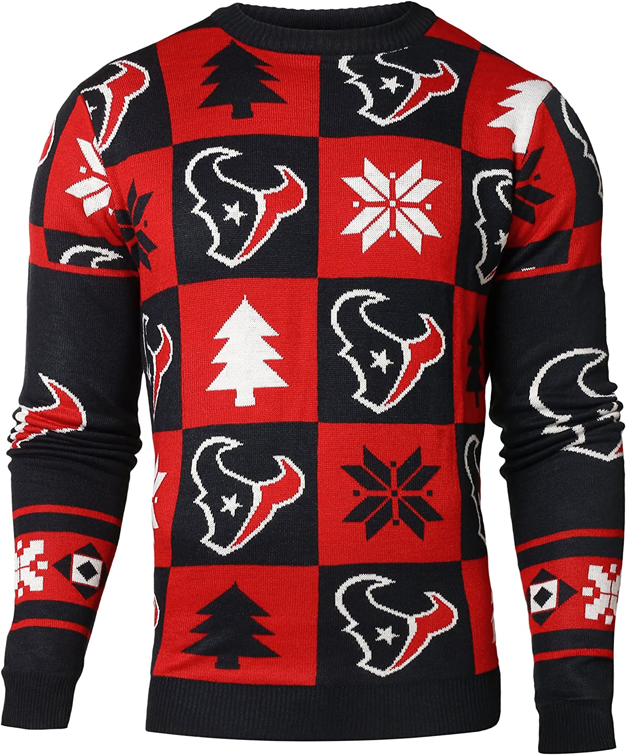 new styles bebc6 c33cb Houston Texans NFL Forever Collectibles Red & Navy Knit ...