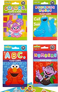Sesame Street Educational Flash Cards for Early Learning. Set includes Colors, Shapes & More
