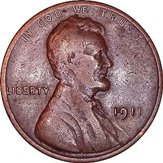 1911 Lincoln Wheat Cent 1C Very Fine