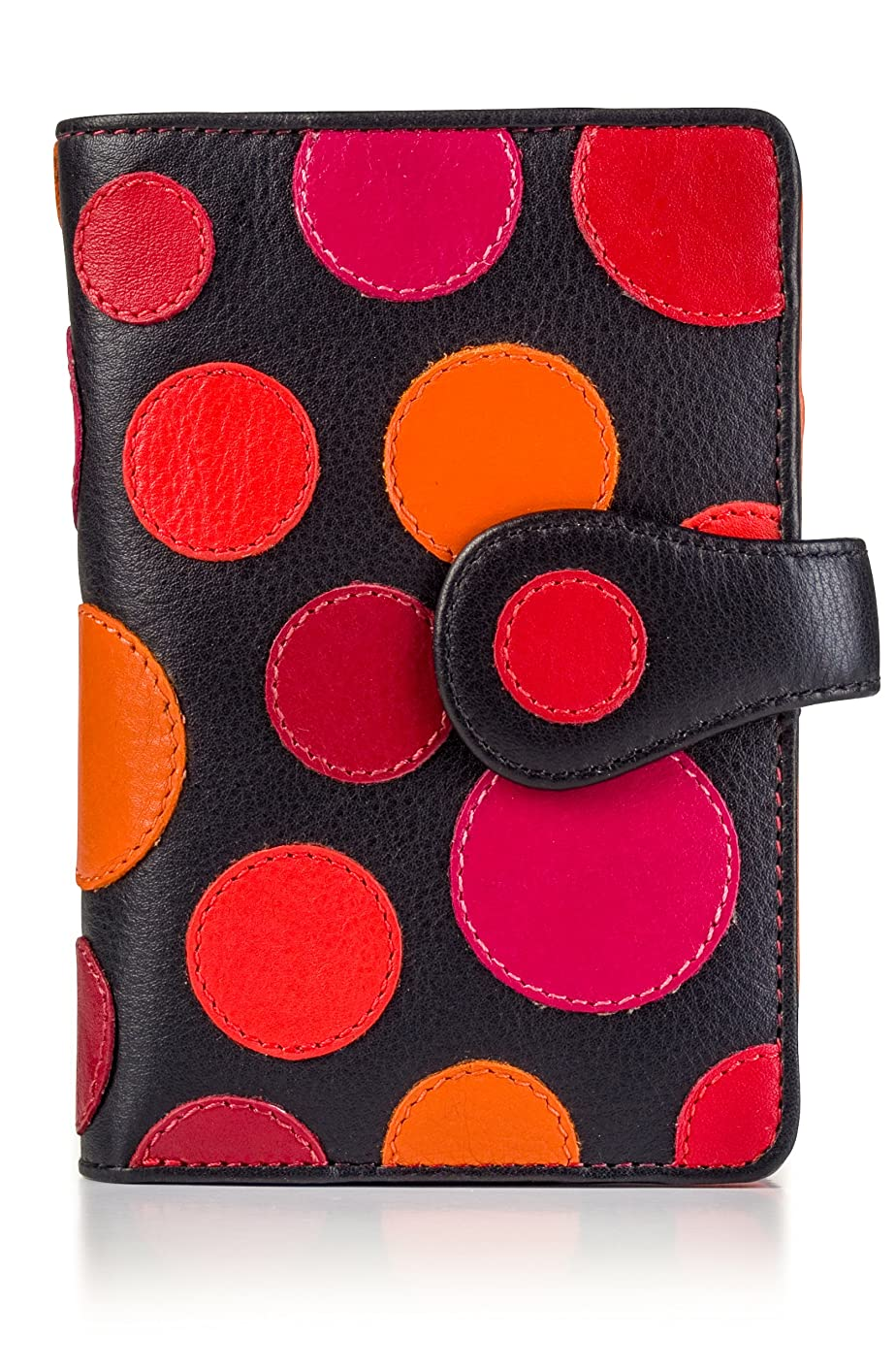 Visconti P1 Saturn Womens Soft Leather Bifold Wallet/Purse with Polka Dots