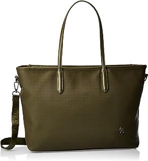 US Polo Womens Shopping Bag, Green - BIUPO0281WVP700