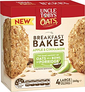 Uncle Tobys Oats Breakfast Bakes Apple and Cinnamon 260g