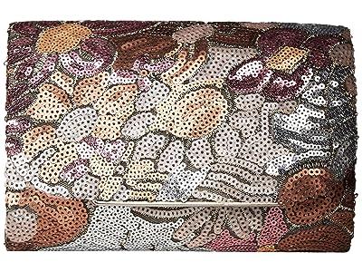 Jessica McClintock Alexis Floral Clutch (Floral Blush) Clutch Handbags