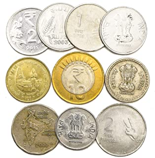 10 Old Coins from India. Collectible Coins LOT from South Asia. Indian Paise Rupee. Perfect Choice for Your Coin Bank, Coin Holders and Coin Album