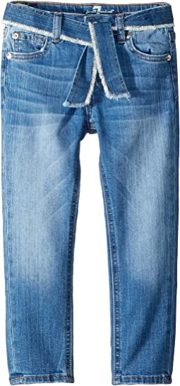 Skinny Stretch Denim Jeans in Adelaide Bright Blue (Little Kids)