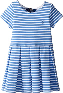 Polo Ralph Lauren Kids - Striped Ponte Pleated Dress (Toddler)