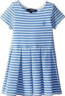 Polo Ralph Lauren Kids - Striped Ponte Pleated Dress (Toddler)