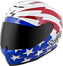 Scorpion EXO-R420 Tracker Adult Street Motorcycle Helmet - White/Red/Blue/X-Large