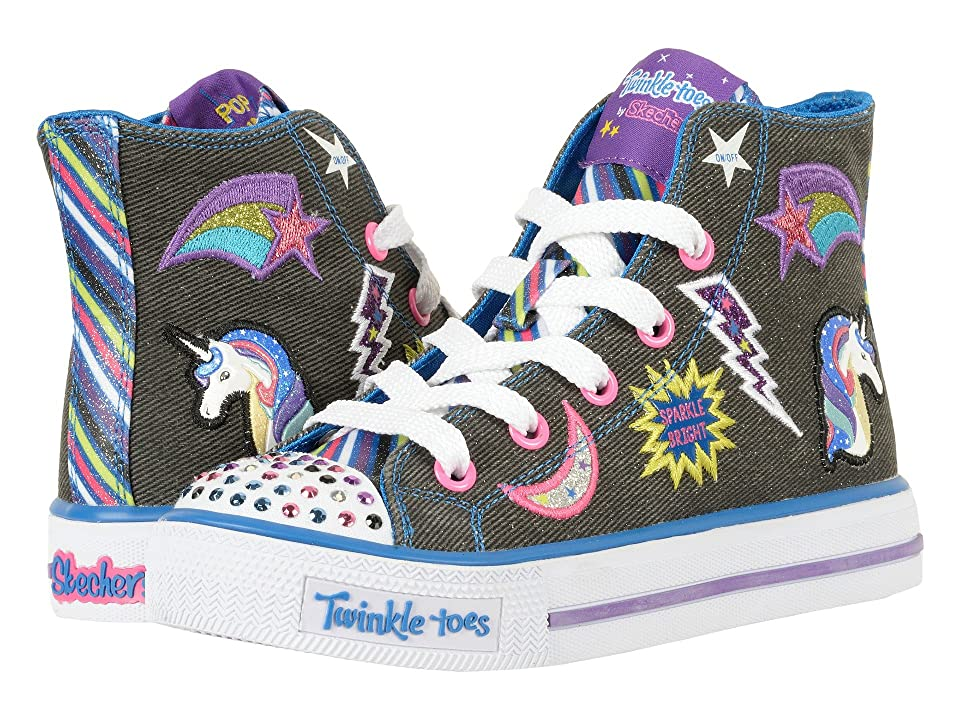 SKECHERS KIDS Twinkle Toes Shuffles 10776L Lights (Little Kid/Big Kid) (Black/Multi) Girl