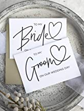 Bride and Groom On Our Wedding Day Card Set Black and White
