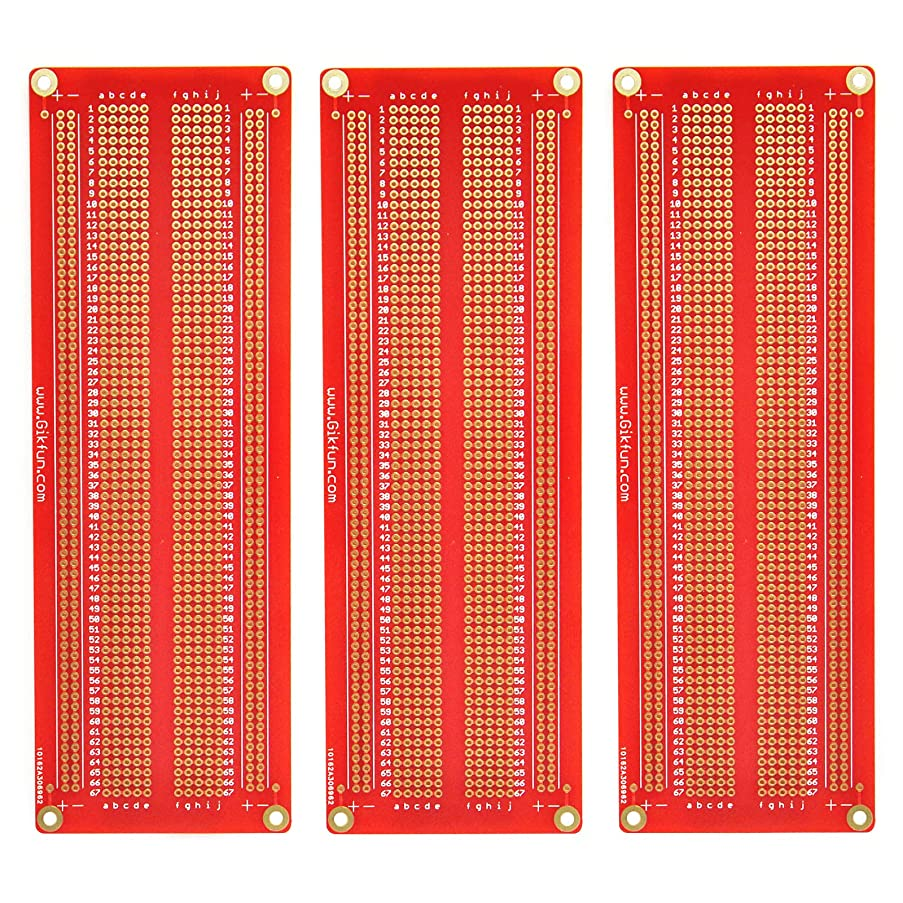 Gikfun Large Solder-able Breadboard Gold Plated Finish Proto Board PCB DIY Kit for Arduino GK1008