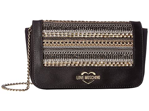LOVE Moschino Evening Bag with Metal Detailing