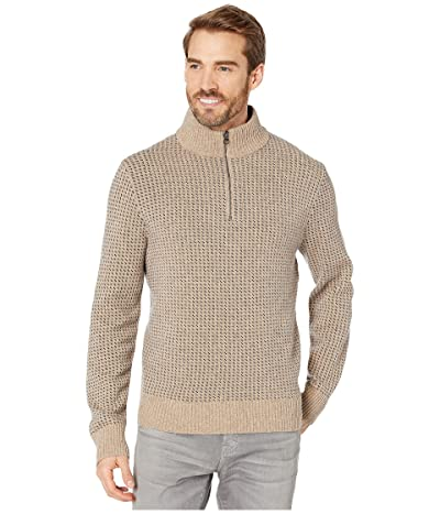 J.Crew Rugged Merino Birdseye Half-Zip Sweater (Heather Birch) Men