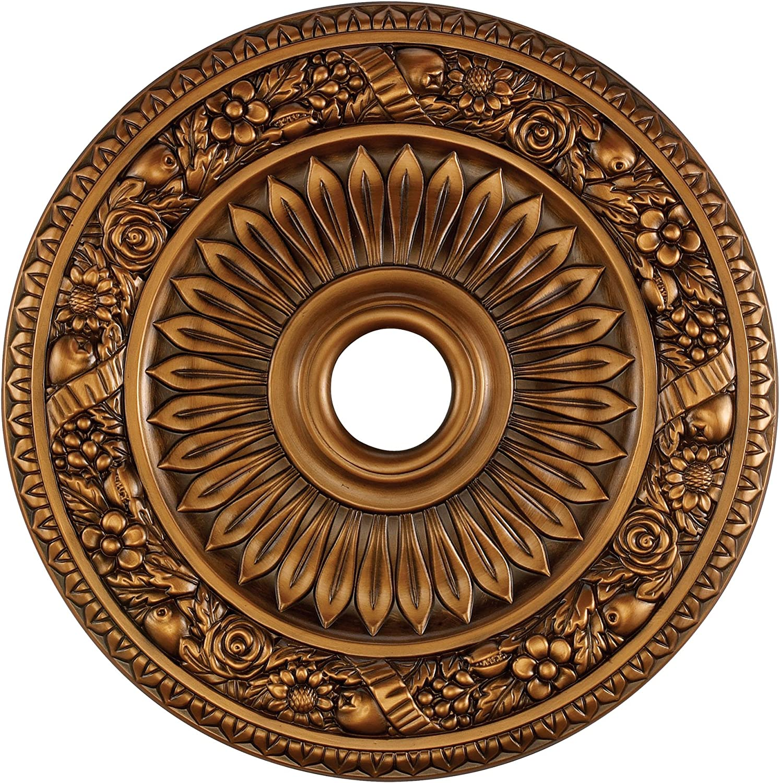 Elk M1006AB Floral Wreath Ceiling Medallion, 24-Inch, Antique Bronze Finish