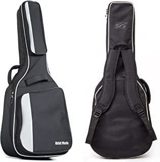 Acoustic and Classical Guitars Gig Bag Full Size (41 inch) by Hola! Music, Deluxe Series with 15mm Padding, Black