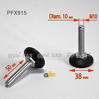 ajile - 1 pieza - Pie nivelador ajustable con base redonda