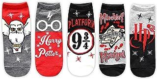 Harry Potter Hedwig Marauders Map Platform 9 3/4 Juniors/Womens 5 Pack Ankle Socks