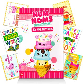 Num Noms Valentines Day Classroom Exchange Gifts | 64 Valentine Cards for Kids Toddlers | Eric Carle Num Noms | 16 Designs | School Preschool Daycare