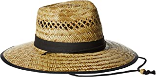 San Diego Hat Co. Men's UPF 50 Wide Brim Natural Straw Lifeguard Outback Sun Hat