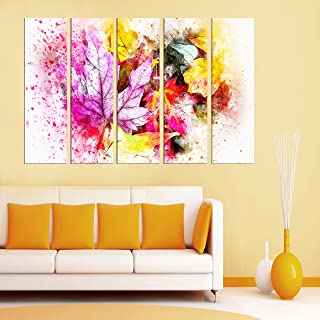 PARI ARTS Multiple Frame,Beautiful Royal Rainbow Coloured Art Wall Painting for Living Room,Bedroom,Hotels,Drawing Room Wo...