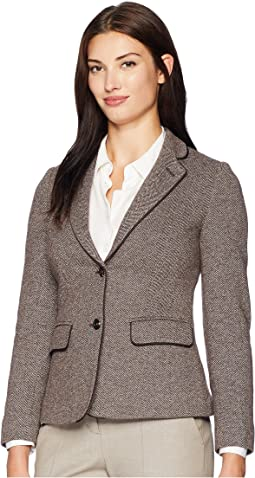 Agatha Blazer with Contrast Piping