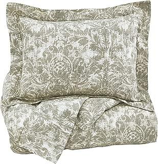 Ashley Furniture Signature Design - Kelby Duvet Cover Set - Queen - Contains 3 Pieces - Natural