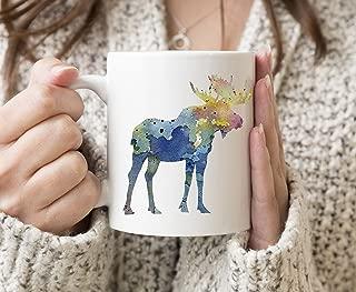 Moose Mug - Moose Lover Coffee Mug - 11 oz - Unique Moose Gifts