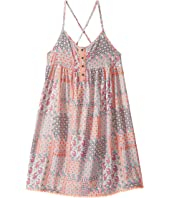 Tommy Hilfiger Kids - Button Front Boho Print Dress (Big Kids)