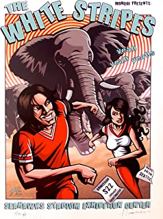 The White Stripes Concert Poster w/Yeah Yeah Yeahs A/P Justin Hampton Seattle 2003