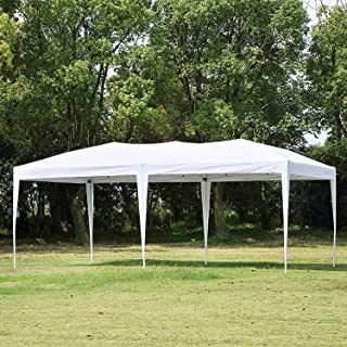 CharaVector 10 x 20 ft Heavy Duty Pop up Canopy Tent Gazebo for Outdoor Party Wedding Commercial Activity Pavilion BBQ Beach Car Shelter with