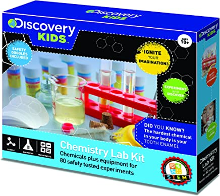 Discovery Kids Chemistry Lab Kit 80 Experiments STEM Activity