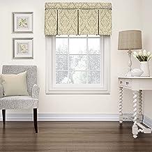 """WAVERLY ستائر النوافذ - Donnington 52"""" x 18"""" ستارة قصيرة نافذة ستائر الحمام ، غرفة المعيشة والمطابخ ، الكتان"""