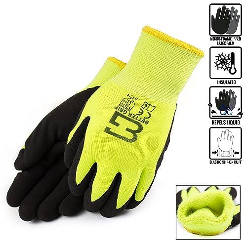 Safety Work Gloves Hi Vis: Amazon com