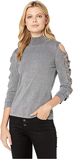 Long Sleeve Turtleneck Sweater w/ Bows