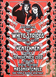 White Stripes Concert Poster Dennis Loren Designed Designed Detroit 2003